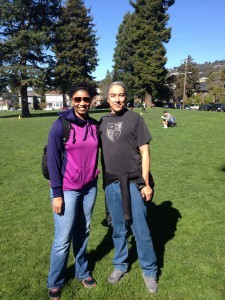 Zari Sundiata and Eddie Yuen after our interview at The People's Park in Oakland, California.