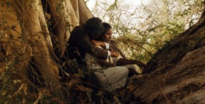 Anberber and Azanu (played by Teje Tesfahun) share a tender moment together.